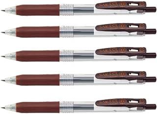 Zebra Sarasa Clip 0.5mm Brown ballpoint pen 5 pcs