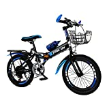 Bicicleta De Montaña Plegable, Bicicleta con Suspensión Completa, Bicicleta De Montaña para Senderos, Acero con Alto Contenido De Carbono, Rígida, Carretera De Montaña, Bicicleta Plegable