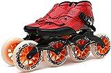 Roller Patins à roulettes Skate en ligne pour les garçons et filles pour adultes pour les garçons et filles - chaussures de patinage thermoplastique en fibre de carbone haute performance pour une unis