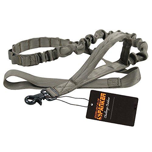 EXCELLENT ELITE SPANKER Taktische Bungee Hundeleine Militär Leine Hunde Elastische Braun Schwarz Hundeleine Walk Trainingsleine(Olivgrün)