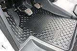 Mercedes-Benz Original Pièce 2 Pièces Tapis de Sol en Caoutchouc Noir/Anthracite W 639 An de Construction 2003-2010 Viano et Vito Conduite à Gauche