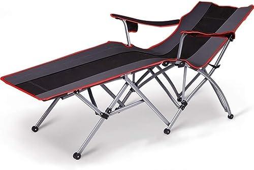 XSWZAQ Chaise Pliante Bureau Chaise Sieste Déjeuner Lit Pliant Balcon Chaise Chaise Longue paresseuse Happy plage Chaise arrière
