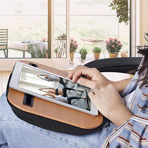 Escritorio De Regazo,Soporte para Computadora Portátil con Cojín En La Cama Y Sofá,como Soporte De Libro/Almohada para Dormir/Escritorio De Regazo,Se Puede Usar como Escritorio Móvil,Mesa De Trabajo