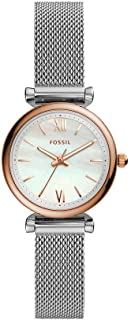 Fossil Carlie Mini Women's White Dial Stainless Steel Analog Watch - ES4614