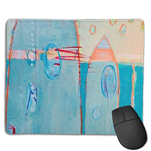Alfombrilla de ratón para videojuegos con base de goma antideslizante para ordenador, teclado y escritorio, 9.8 x 11.8 pulgadas