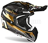 Airoh AV23N90 - Casco integral para moto, color cromo y dorado
