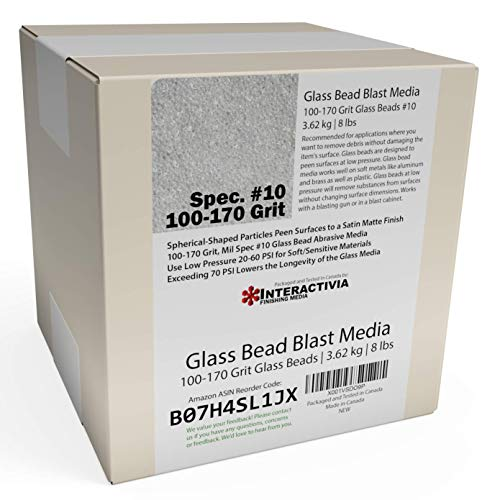 BLACK BEAUTY Abrasive Blast Media Medium Abrasive 12//40 Mesh Size for use in Sandblast Cabinet 25 LBS