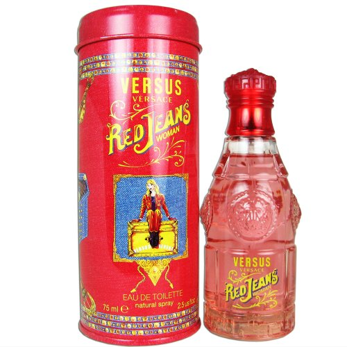 Versace Versus Red Jeans for Women Eau De Toilette Spray, 2.5 Ounce by Versace