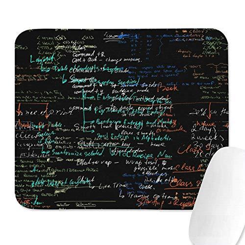 Family Game Office Handballenauflage Mathe Gleichungen Physik Chemie Niedliche komfortable rutschfeste Gummi rechteckige Handballenauflage
