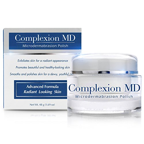 Complexion MD Exfoliating Face Scrub -- Anti Aging & Pore Refining Microdermabrasion Facial Polish with Green Tea & Natural Pumice -- Spa Quality Home Exfoliation for Clear Youthful Skin (1.69oz/48g)