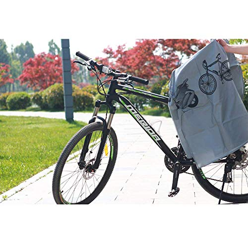 KLAS REMO Fahrradabdeckung wasserdicht Fahrradplane Fahrradhüllen Fahrradschutz Hülle Fahrrad Cover Bike Anti-Staub Abdeckung Hülle für Fahrrad Mountainbike schwarz grau - 3