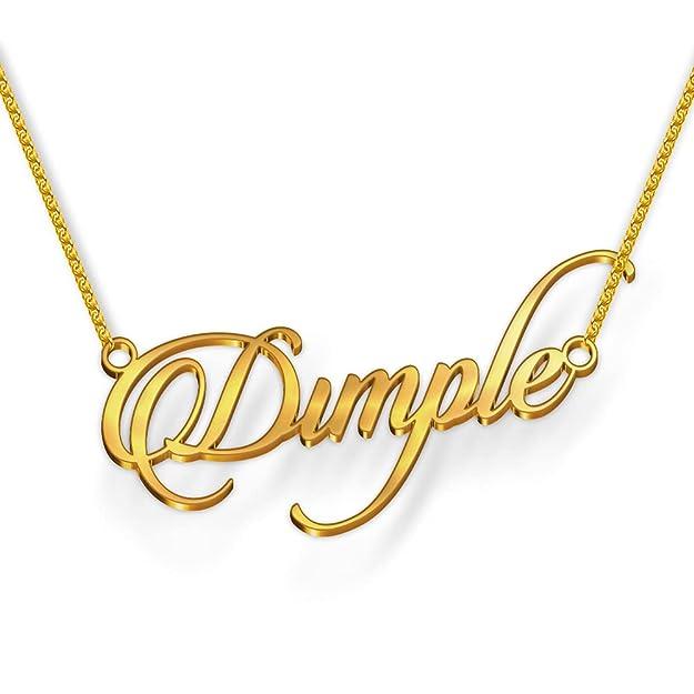 Dreamrax Dimple Cursive Gold & Silver Name