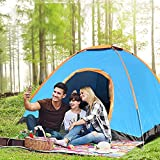 Abhsant Instant Automatic pop up Camping Tent, 6 Person Lightweight Tent,Waterproof Windproof, UV Protection, Perfect for Beach, Outdoor, Traveling,Hiking,Camping, Hunting, Fishing, etc
