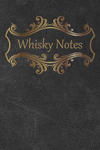 Whisky Notes: Whisky-Tasting-Buch I 80 Seiten Softcover I Notizbuch mit Bewertungsformular I Praktischer Begleiter für jedes Whisky-Tasting I ... I Motiv - klassisch Leder I Farbe - Asche