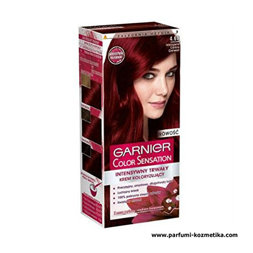 GARNIER COLOR SENSATION, HAIR COLOR DYE 4.60 Intense Dark Red