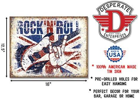 Job Lot 10 x METAL TIN SIGN WALL PLAQUE Vintage 50/'s /& 60/'s Rock /& Roll Concert1