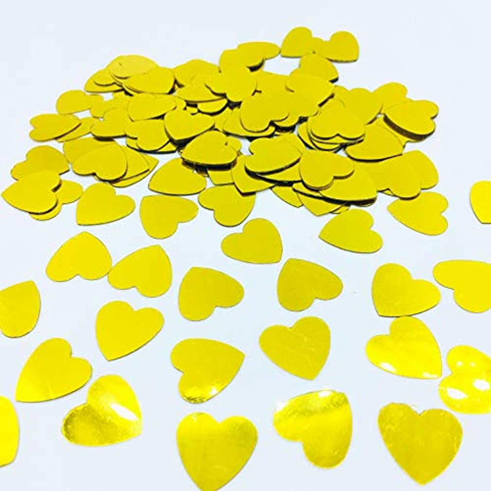 Gold Foil Heart Confetti Sprinkles for Valentine's Day Dating Wedding Festival Anniversary Party Decoration (Gold)