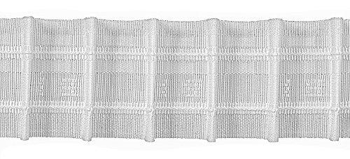 Ruther & Einenkel Bleistiftfalte 50 mm, 200% / Aufmachung 10 m, Polyester, weiß, 1000 x 5 x 0.2 cm