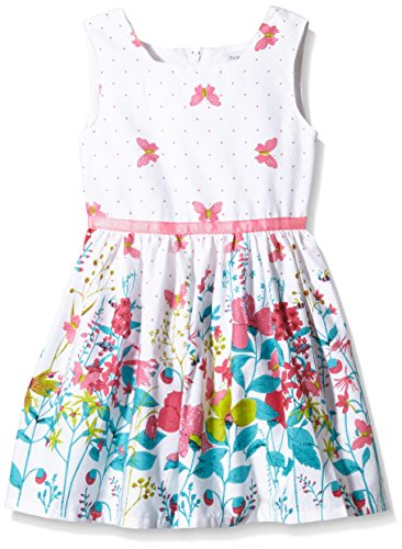 Happy Girls Mädchen Kleid mit Print, Geblümt, Gr. 122, Mehrfarbig (pink 37)