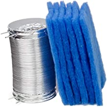 Kit King - 6 Pack Replacement Filters for BetterVent and 8 Foot Flexible Dryer Duct Combo. Indoor Dryer Vent Filter Inside Lint Trap Electric Box Better