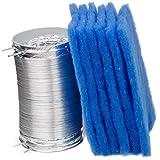 Kit King – Paquete de 6 filtros de repuesto para BetterVent y combo de conducto flexible para secadora de 8 pies Filtro de ventilación interior para secadora, caja eléctrica mejor