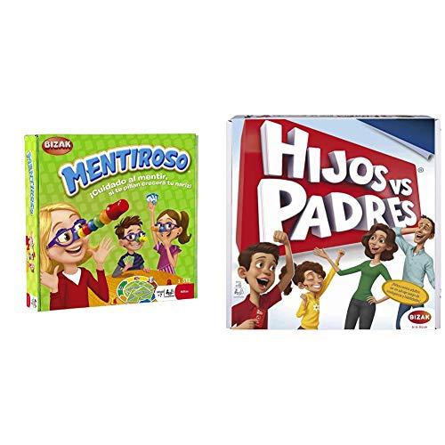 Bizak Mentiroso Juego de Mesa (61924545) + Juegos Hijos contra Padres (61923451)