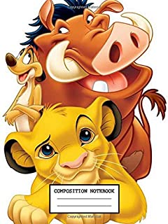 Composition Notebook: The Lion King Hakuna Matata  Composition Notebook, Soft Glossy Wide Ruled Journal with lined Paper for Taking Notes, Writing ... Students. inexpensive gift for boys and girls