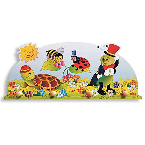 Dida - Porte-Manteaux Enfant – Animaux - Porte Manteau Mural en Bois pour Chambres d'enfant et bébé