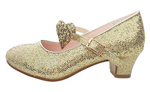 La Senorita prinses schoenen glitter Anna ELSA Frozen Spaanse flamenco schoenen goud