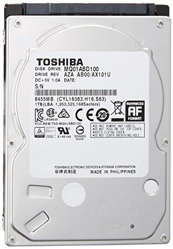 東芝 内蔵HDD 2.5インチ 1TB MQ01ABD100 2年保証 国内正規代理店品 SATA 6Gbps対応 MQ01ABD100-2YW