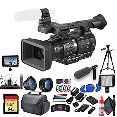 Panasonic AJ-PX270 microP2 Handheld AVC-Ultra HD Camcorder (AJ-PX270P) with Padded Case, LED Light, 64GB Memory Card, Tripod, External 4K Monitor, ECM-VG1 and Much More from Panasonic