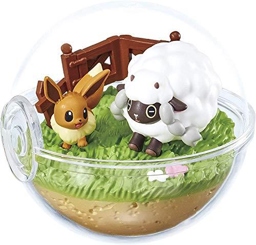 Banda Pokemon Terrarium Mini Diorama Figure in Pokeball EX Galar Region~#5 Wooloo Eevee Evoli