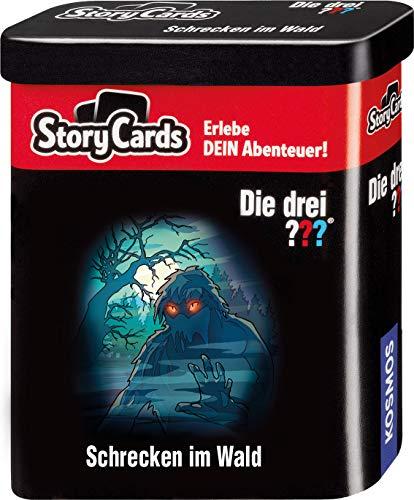 KOSMOS 698966 Story Cards - Die drei ??? Schrecken im Wald, Krimi Kartenspiel für Kinder