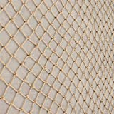 RZM Décor Net, Aire de Jeux Net Anti-Fall Escalade Décoration Net de décoration Nautique Poisson Net Matériel de Jute pour Restaurant rétro, Tailles Multiples (Color : Beige-5cm, Size : 2x2m)