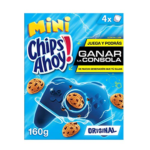 Chips Ahoy! Mini Galletas con Pepitas de Chocolate, 4 Bolsitas, 160g