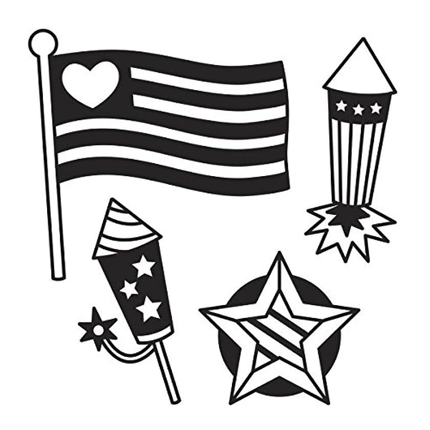 Darice 30023090 Die Cut Emboss Stencil Americana