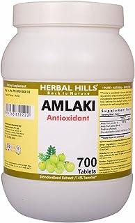 Herbal Hills Amlaki 700 Tablets Amla or Amlaki Emblica officinalis 500mg Powder and Extract blend in a Tablet