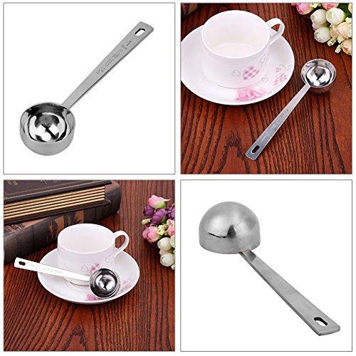 "JD Million shop 1Pcs 15ML Sturdy Stainless Steel Metal Coffee Scoop Tablespoon Smooth Measuring Tea Spoon 1.49"" Diameter 5.7"" Handle Length"