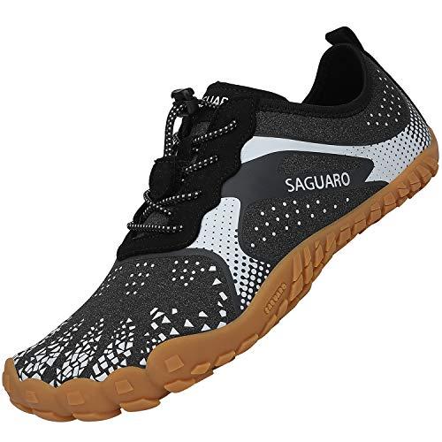 Zapatillas de Deporte Exterior Interior Hombre Mujer Escarpines Deportes Acuáticos Calzado de Minimalista para Playa Surf Transpirable de Secado Rápido, Hm Gris Bianco 42