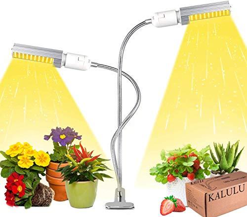 AWKAQUN Pflanzenlampe LED für Zimmerpflanzen - 45W Vollspektrum 3 Modi 5 Helligkeit einstellbar 3H/6H/12H Timing-Funktion 130 LEDs Grow Lampe