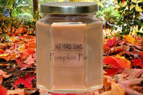 Pumpkin Pie Scented Blended Soy Candle | Hand Poured Fall Fragrance Candles | Made in The USA by Just Makes Scents