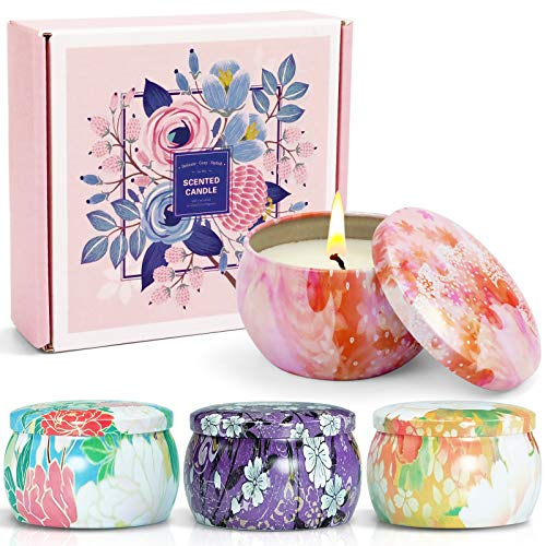 LA BELLEFÉE - Set regalo con candele profumate di soia, per aromaterapia, in cera di soia naturale, per amici, famiglie, compleanni, festa della mamma, Natale