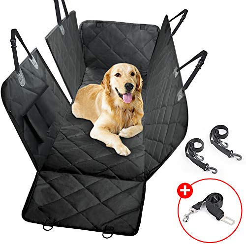 HUAXIANZI Dog Seat Cover Luxury Car Seat Cover for Pets Waterproof Pet Seat Cover Back Seat with Storage Pockets for Cars Trucks and SUVs