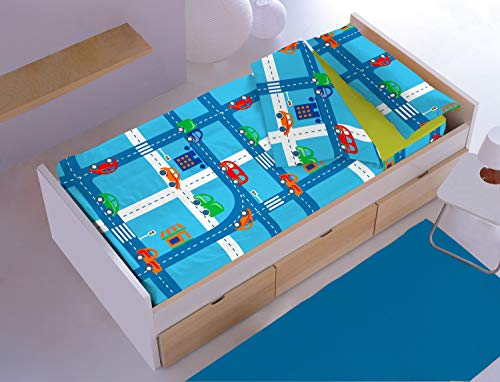 DENISA HOME Saco Nórdico Circuit Color Azul Cama de 90