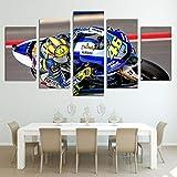5 Panel/Set Lienzos Handart Cuadro En Lienzo Cinco Partes HD Clásico Óleo Impresiones Decorativas Cartel Arte Pared Pinturas Hogar Lienzo Pintura De Motocicleta