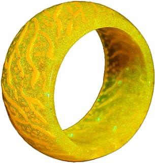 خاتم متوهج من الراتنج من نافاست، هدية للاطفال والرجال والنساء، مقاس 7-11