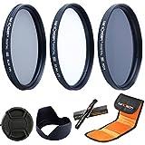 K&F Concept 58mm Objectif Filtre UV CPL ND4 Kit de Filtres Protection UV, Filtre...