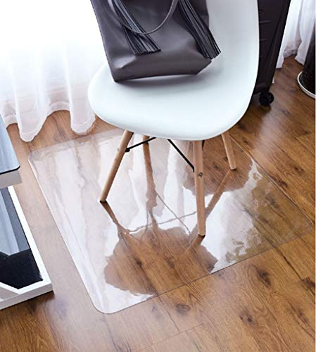 BEIGOO Bodenmatte Durchsichtig,PVC Teppich Bürostuhl Kissen Teppichschutz Plastik rutschfest Stuhl Mat-50x80cm(20x31inch)-1.5mm