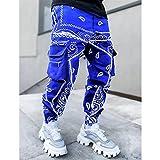 LSTGJ Pantalones De Impresión Hombres Pantalones Streetwear Sweetpants para Hombres Pantalones De Carga Sueltos Hombres Casual (Color : Blue, Size : 5XL 92.5 100kg)