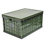 アステージ(Astage) 収納ボックス ふた付き折りたたみ式コンテナ NM-35GR 本体: 奥行49.5cm 本体: 高さ26.2cm 本体: 幅35.5cm グリーンブラック